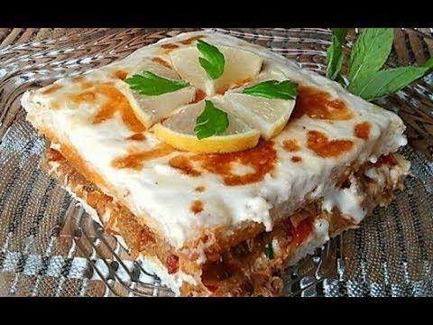 صينية التوست بالتونه و الخضار ع شي سريع و لذيذ من مطبخ العنوود