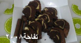 كيكة الشوكولاته بالجبن لذيذه جدا جدا جدا مثل كيكة بيتي كروكر والذ بالصور